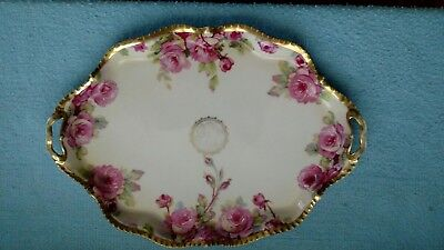 Prussia Floral Dresser Tray - Signed