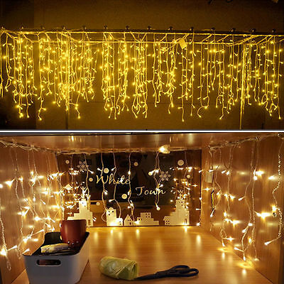 Christmas Outdoor Decoration Indoor 5m Droop 0.4-0.6m Curtain Icicle Led String