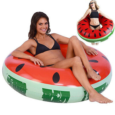 Inflatable Watermelon Swim Ring Summer Swimming Pool Beach Fun Sport Toys Float