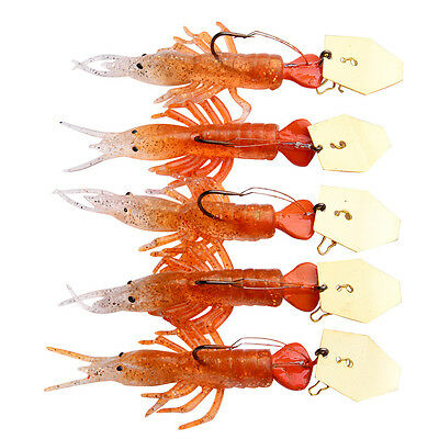 5pcs Lot Soft Baits Silicon Lure Fishing Lures Soft Bait fishing Tackle 2 Colors