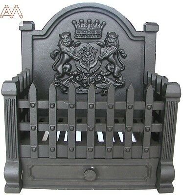 Regal Cast Iron Grate Heavy Duty Open Fire Basket Log Basket