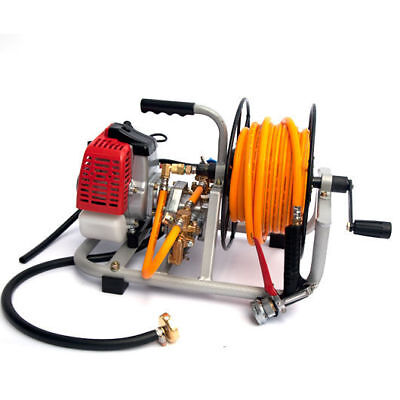 Garden weed sprayer Pump with motor & Hose Reel kit Pest Control Spray Spot