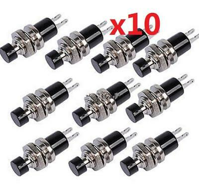 10pcs BLACK Mini Lockless Momentary ON/OFF Push button Switch Mini Switches