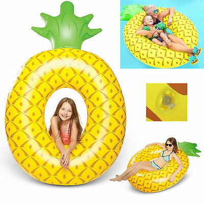 Reef FUN Giant Pineapple Inflatable Pool Toy Float swimming summer Lounge Raft