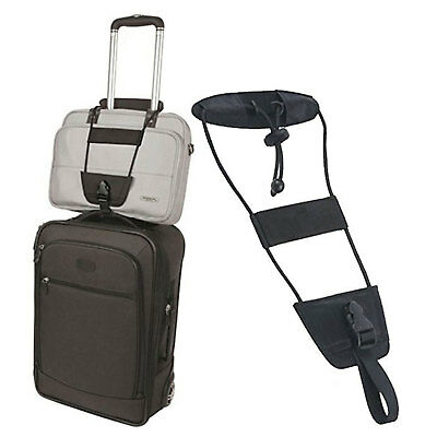 Add A Bag Strap Travel Luggage Suitcase Adjustable Belt Carry On Bungee Easy AU