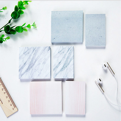 Memo Block Marble Note Pad Paper 75 Sheets School Office Study Cute notepads