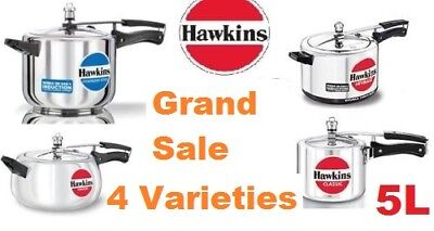Hawkins Pressure cooker ,5 Litre Each, 4 Different styles and shapes ,Cheapest