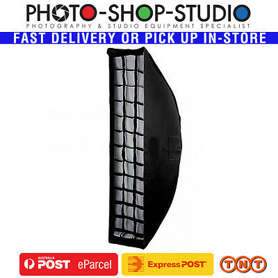 Nicefoto 23 x 90 cm NE Strip Softbox with Grid Bowens Mount #SB2390G-B studio