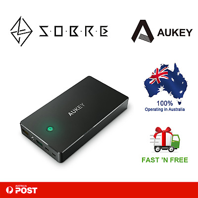 AUKEY 20000mAh 3.4A Dual USB Port External Battery Power Bank Portable Charger