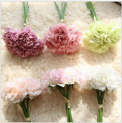 Artificial Peony Hydrangea Flower Bridal Bouquet Home Furnishing Decoration