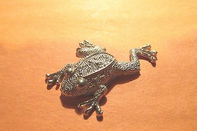 Pewter Frog Figurine