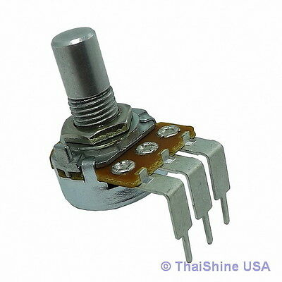 2 x 50K OHM Linear Taper Potentiometer Round Shaft PC Mount USA Seller Free Ship
