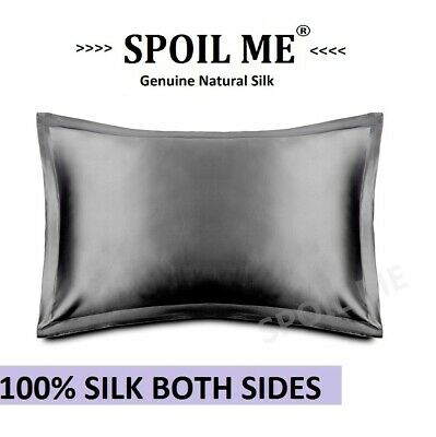 Luxury Soft 100% Mulberry Silk Pillow Case 25Momme Slip  Beauty Care Red