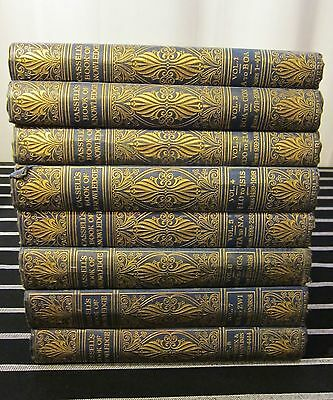 Antique Illustrated Encyclopaedia: Cassell's Book of Knowledge set of 8