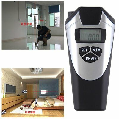 Digital Ultrasonic Laser Distance Meter Range Finder Measure Tape Diastimeter FK