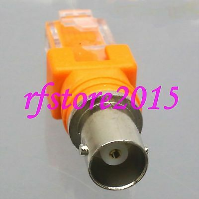 1pce Adapter Connector BNC female jack to RJ45 male Barrel Coupler RF COAXIAL