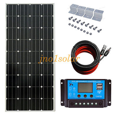 150W 12V PV Mono Solar Panel Kit for Battery Power Charge for Caravan RV Home