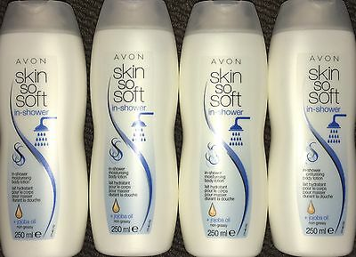 Avon 4 x Skin so Soft In-Shower Moisturising Body Lotions + Jojoba Oil 250ml