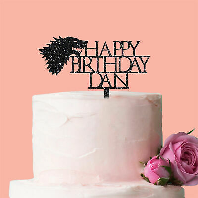 Personalised Stark Wolf Sigil Cake Topper Decoration Birthday Game of Thrones