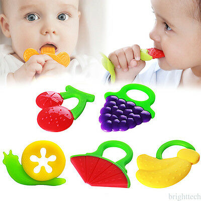 Neonato Unisex Silicone Safe Chewable Teether Teething Denti Stick Pacifier