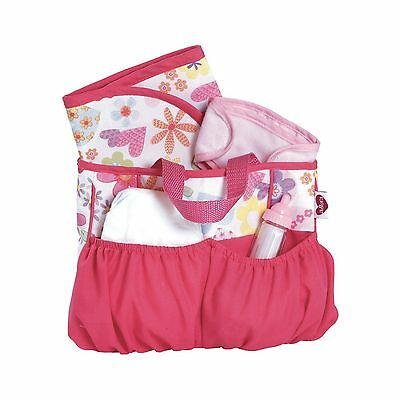 Adora Baby Doll Diaper Bag Accessories 5 Piece Changing Set Two Exterior Pockets