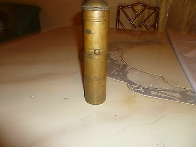 Primitive Antique Ottoman Brass-Carved  Hand Coffee Grinder 19 century