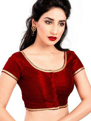 Ready Made Maroon Dupin Saree Choli Designer Top Wedding Wear Blouse-LBL142