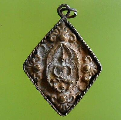 Hot Real Lp Boon Old Thai Buddha Amulet Rich Money !!!