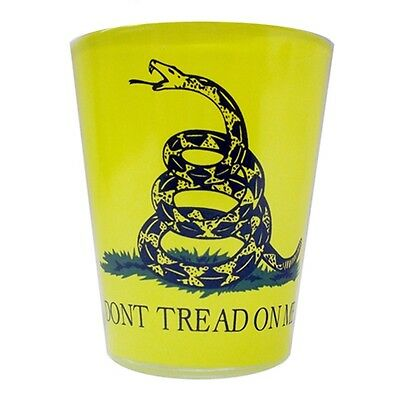 Don't Tread On Me Us. Gadsen Confederate Shot Glass New