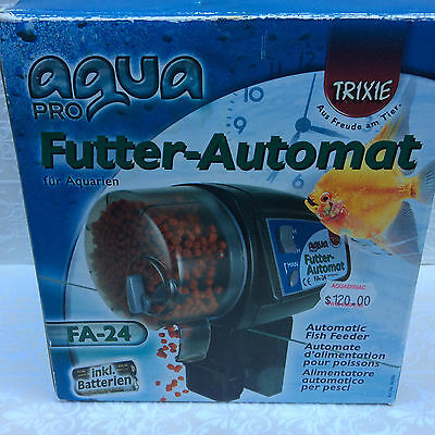 Aqua Pro Automatic Fish Feeder FA-24 GUC original rrp was $120 from aquadisiac