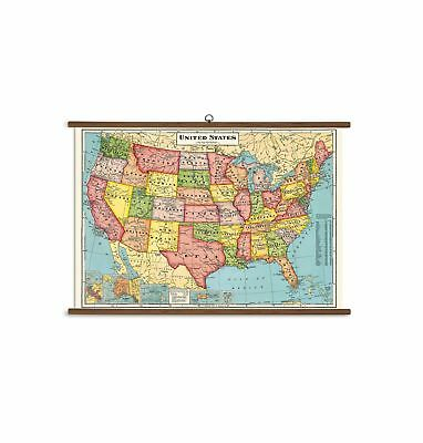 Cavallini Papers United States Map Vintage School Chart