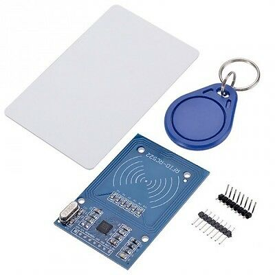 RFID NFC RC522 - Arduino card key 13,56Mhz tag tessera badge - antenna integrata