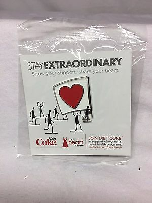New Unopened Diet Coke The Heart Truth Stay Extraordinary Women's Health 2pt Pin