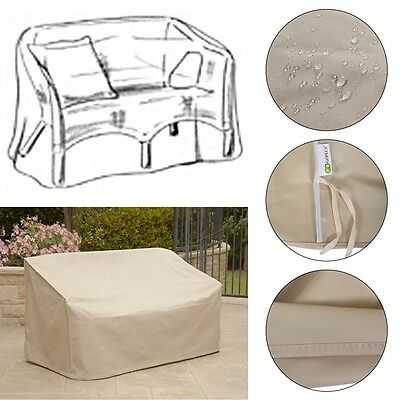 High Back Watertight Home Patio Loveseat Bench Cover Outdoor Furniture Protector