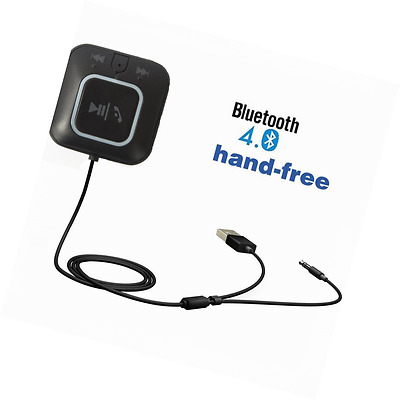 Hands free Bluetooth Receiver Car Kit,Upintek 3.5mm Bluetooth Audio Music