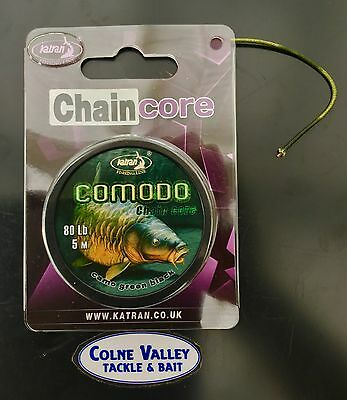 Fishing lead core 5m spool camo green black unbelievable supple best  cv tackle