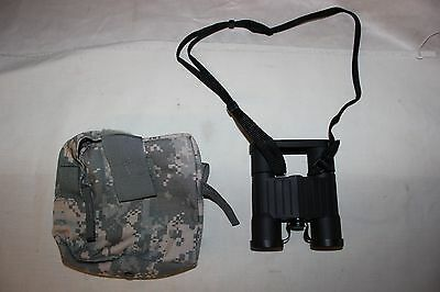 US Military Issue USGI M24 7X28 FUJI BINOCULARS Molle Carrying Case  NEW