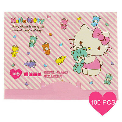 [SANRIO HELLO KITTY] Oil Absorbent Paper PINK Teddy 100pcs NEW