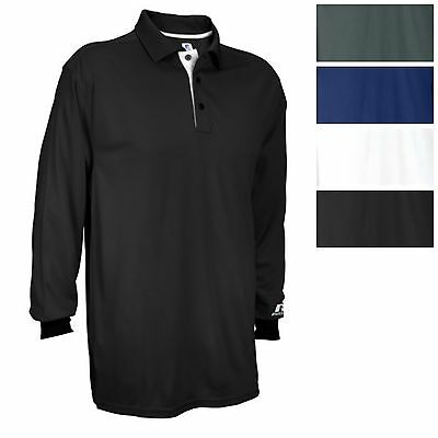 Russell Athletic Men's Team Essential Long Sleeve GAMEDAY Polo Casual Golf Tee