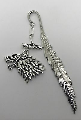 Game of Thrones Inspired Stark Bookmark - 2 Charms