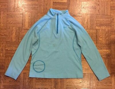 Girls Under Armour Pullover Half Zip Fleece Turquoise Size Youth Medium