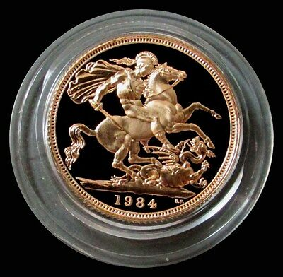 1984 Gold Great Britain Gem Proof Sovereign