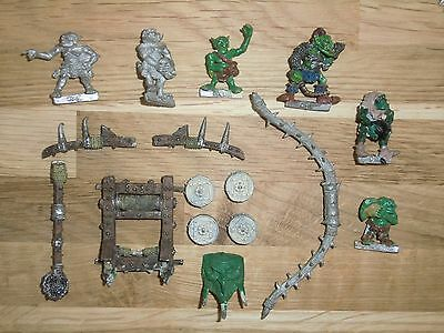 Warhammer Fantasy Vintage Orc Man Mangler Orc War Machine Catapult - Metal 1980