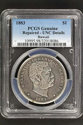 1883 Kingdom of Hawaii Silver Dollar PCGS Genuine VF Details Repaired -135825
