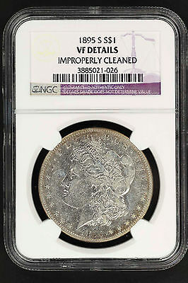 1895-S Morgan Silver Dollar NGC VF Details Improperly Cleaned -135618