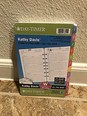 Day-Timer Kathy Davis 2018 Planner Refill 2 Pages Per Week Floral Pink Size 4