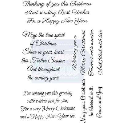 Thinking of You this Christmas Clear Stamp by Sweet Dixie Sentiment card craft