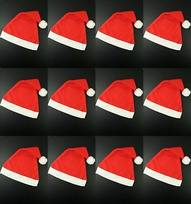 Christmas Santa Hats Red Party Father Claus Xmas Wholesale Bulk Multi Pack