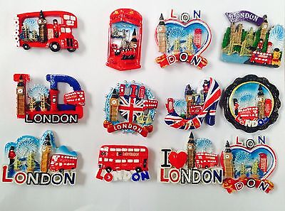 New I Love London England British Uk Fridge Magnets Souvenir 3D Ceramic Gift Set