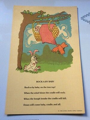 9 Vintage Mother Goose Nursery Rhyme Prints 7 x 11 Baby Decor